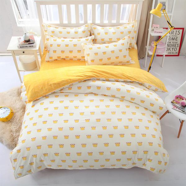 Pasteles amarillos Funda nórdica Sábana Fundas de almohada Juego de 3 o 4 piezas Juego de cama para niños Dormitorio Decoración Edredón Juegos de cama