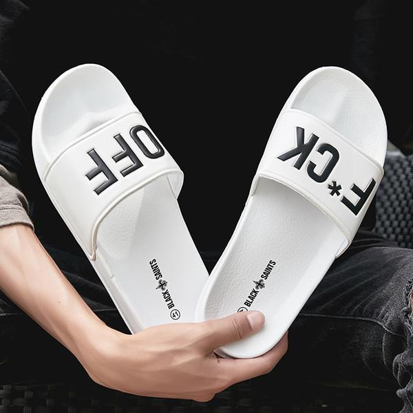 BIGFIRSE 2019 Yaz Yeni Erkekler Terlik Moda Açık kaymaz Rahat Ayakkabılar Büyük Boy Hafif Nefes Sandalet Sıcak Satış Daireler 46