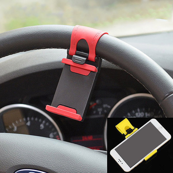 Fashion Mobile Phone Stent Vehicle-mounted Steering Wheel Phone Holder Universal Support Smartphone 5Colors