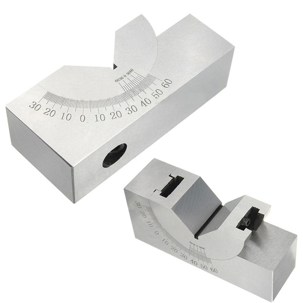 Freeshipping High Precision Angle V Block 0 to 60 Degree Adjustable Micro Angle Gauge with Wrench For Power Tool