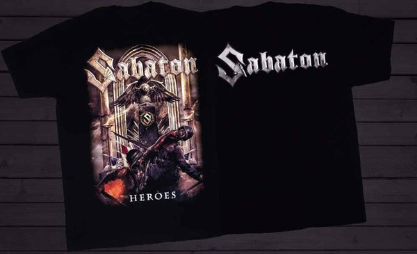 Casual T Shirts Graphic Men Sabaton Heroes Power Metal Band Accept Powerwolf O-Neck Short-Sleeve Tees