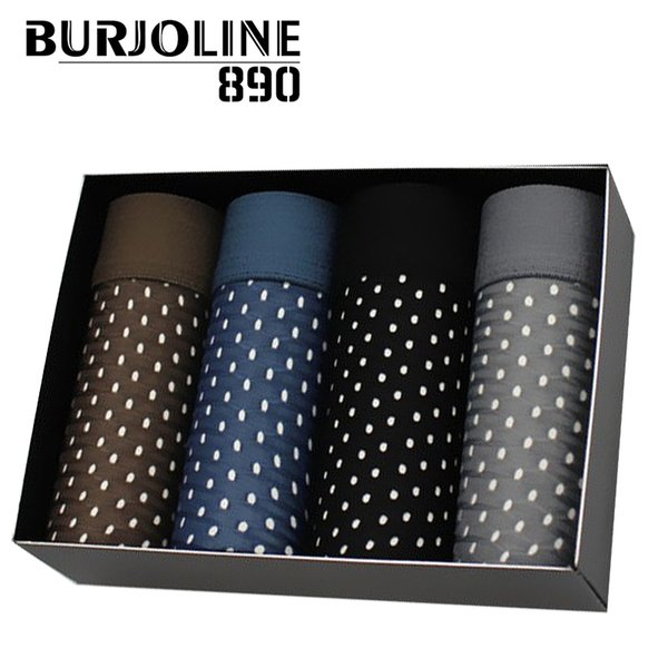 890 4pcs/lot Summer Men's Underwear Man boxer Ice Mesh Breathable Sexy Youth Boxer Briefs B0518