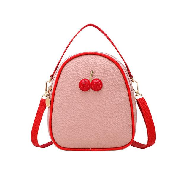 12019 Joker Lovely Single Shoulder Span Cherry Bees Portable Small Bag Spelling Much