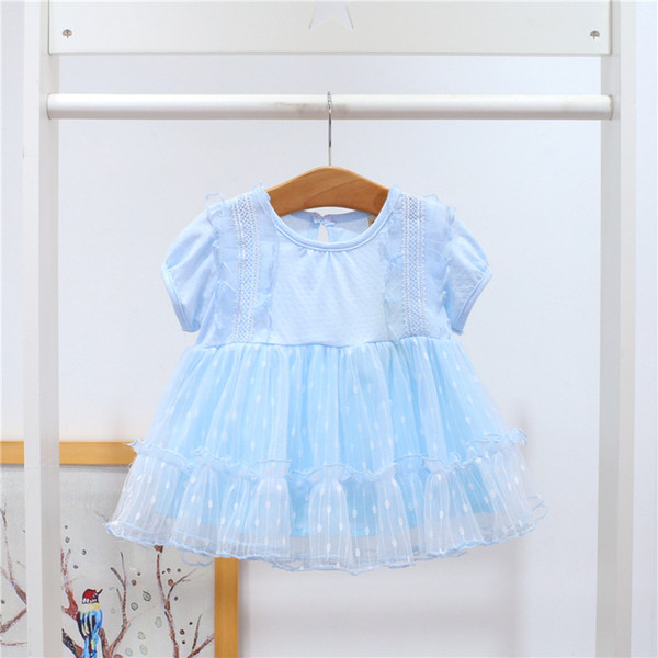 Hot New 2019 Girl Summer Dress Pink Newborn Party Clothes Princess Tutu Dresses for Girls Vestidos Menina for 0~2 Age Kids Dress