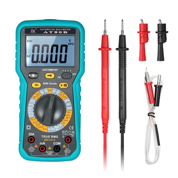 LCD Digital Multimeter DMM 6000 Counts Multimetro True RMS Auto Range AC/DC Voltage Current Meter Resistance Capacitance Tester