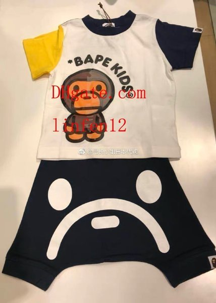 Kids Clothing Sets Two-piece Summer for Girls letter pattern Short Sleeve Cotton Pants Shorts Sportswear kids jogging tracksuits di-sn12