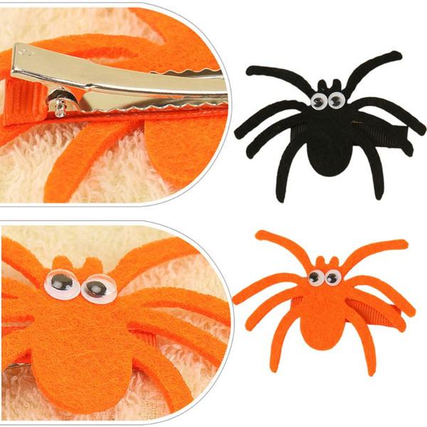 nuevos clips de Halloween pelo divertido de fieltro hechos a mano araña Headwear de las horquillas Para los niños Parte accesorios para el cabello