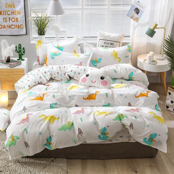 Green sheet pillowcase & duvet cover set New Pastoral Bedding set modern bed linens 2019 autumn bedclothes 3 or 4pcs/set kid set
