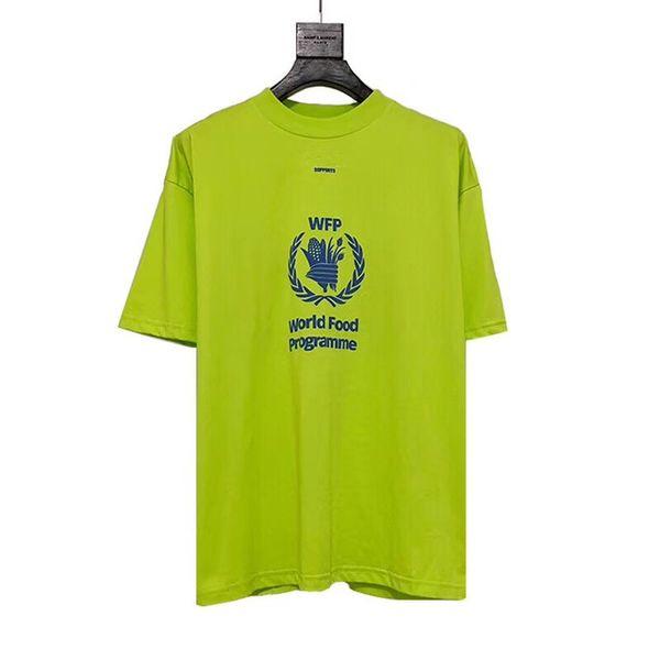 World Food Programme T shirt Wen 1:1 High Quality Foam Printing OVERSIZE Top Tees