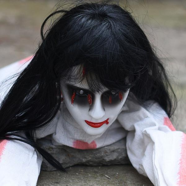 Halloween Contrôle de la voix Creep Femme Fantôme Accessoires 3 Designs Horreur Jouets Bar Ghost Maison Ornements Partie Fournitures 08