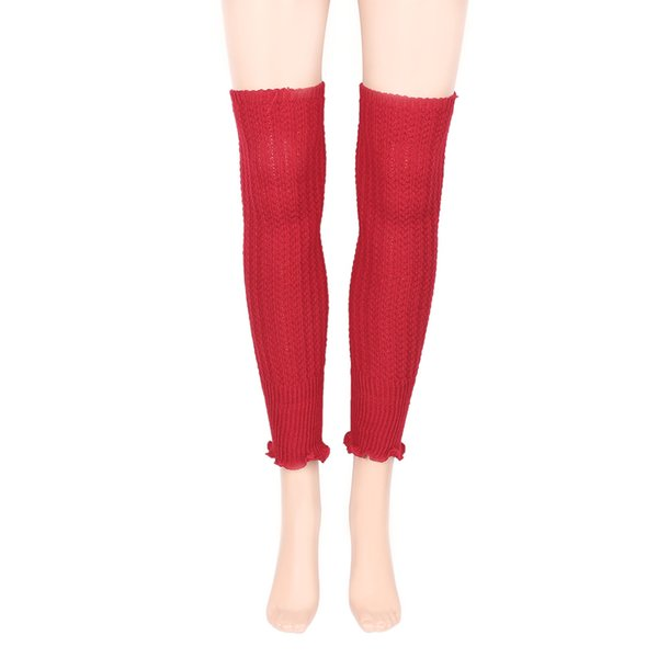 1 par Acrílico Malha Crochet Das Senhoras Das Mulheres Inverno Polainas Menina Polainas Malha Quente Boot Cuffs Leggings polainas mulher inverno