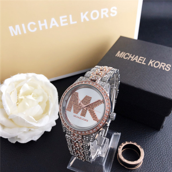 best selling Christmas gift New Stainless Steel Simple Fashion With Diamond Women Quartz Watches Fashion Luxury Jewelry Gift MK7095ZM H110530