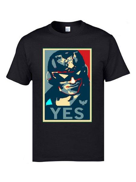 Sim ! Capitão América Falcon camisetas Refresque T-Shirts Verão surpreendentes 100% algodão protetor camisetas para homens
