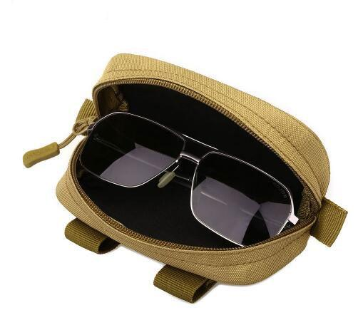 Taktik Askeri Molle Ordu Gözlük Küçük Kılıfı Çanta Çok Fonksiyonlu Gözlük Durumda Darbeye Açık Avcılık Güneş Gözlüğü Çanta # 322697
