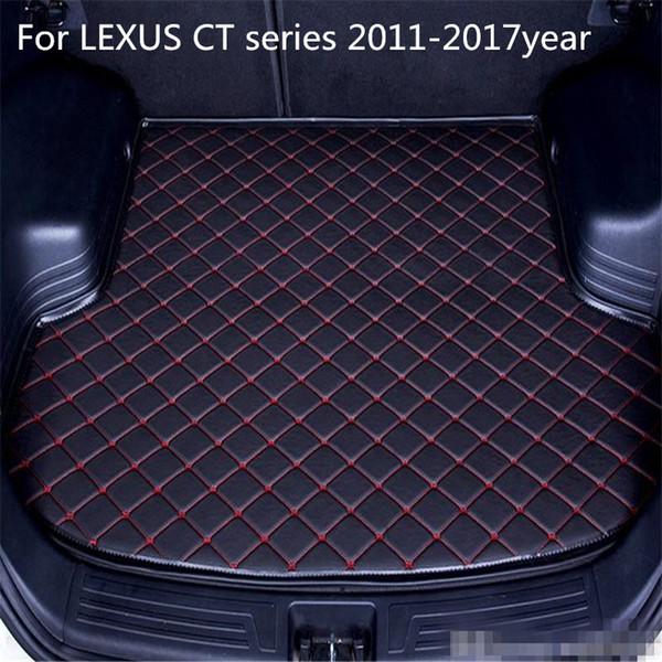 Para Lexus CT serie 2011-2017year s antideslizante maletero del coche Mat cuero resistente al agua de la alfombra maletero del coche Mat cojín plano