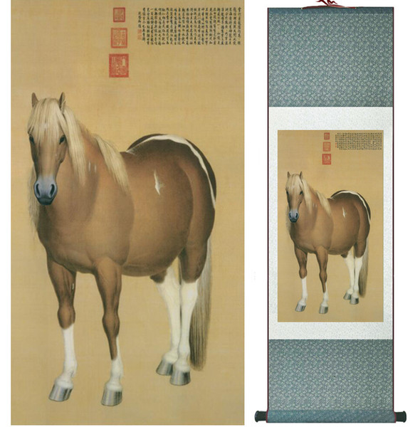 Chinese Traditional Art Painting Art Painting Horse Horse Painting051815 Silk Art Paint Roller
