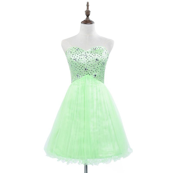 100% Real Image Sparkly Homecoming Dresses Sleeveless Party Prom Gowns Graduation Cocktail 2019 Occasion Dresses IN STOCK Dress Cheap SD034