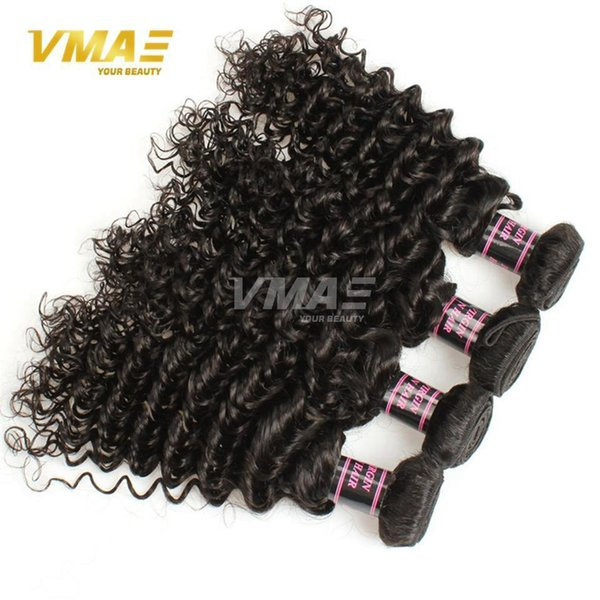 Top Brazillian Virgin Curl Capelli Deep Wave 3 Bundles Brasiliano riccio tessuto capelli umani Estensioni fasci di capelli ricci in profondità