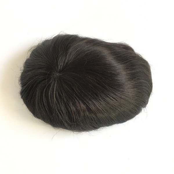 Swiss Lace Men Toupee Pu Toupee Lace With Pu Men's wig Lace With Pu Around For Men High Quality Men's Wig Replacment Systems