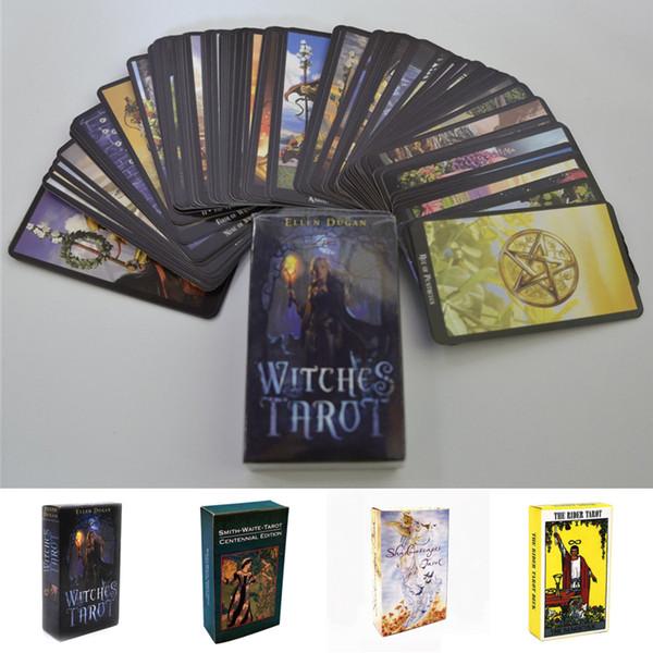 4 стиля Карты Таро Ведьма Райдер Смит Уэйт Пейзажи Карты Таро Колода с красочной к