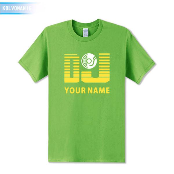 2019 men s designer clothing tshirt DJ Your Name Mens T Shirt Personalized Surname Print Short Sleeve T-Shirt Cotton Summer Dresses Men
