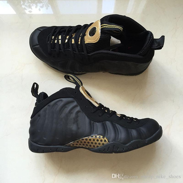 New Penny Hardaway Men Basketball Shoes Foam one Pro Black/Metallic Gold Mens Brand Designer Sports Sneakers with box size 8-13