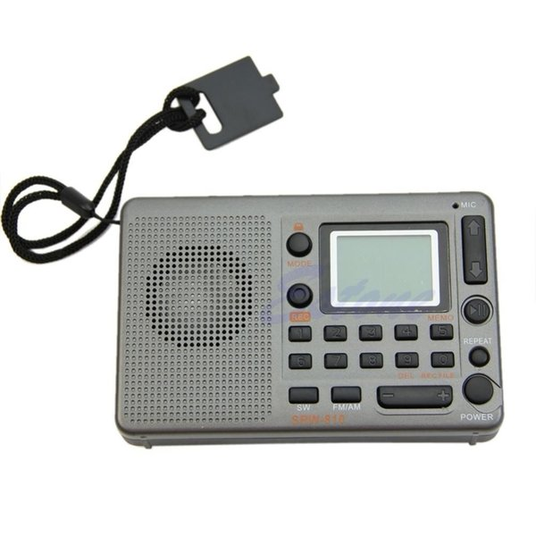 Sintonizzatore digitale Ricevitore LCD TF Lettore MP3 FM AM SW Radio a banda larga portatile Nuovo