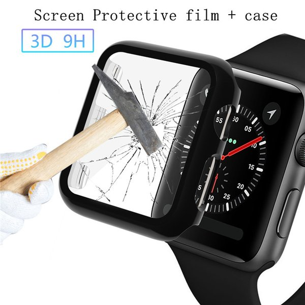 best selling Screen Protective film + case for apple watch Series 4 3 2 iwatch 44mm 40mm 38mm 42mm PC Frame All-around Protect Cover Watch Accessories