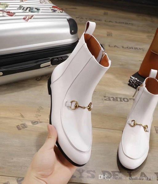 Italian Women winter Genuine Leather Short boots Classic Luxury Pearl chain Zipper Tweed velvet original fashion brand Sexy Simple Classic
