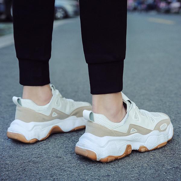Fashion Men Vulcanize Shoes Chunky Sneakers Lace-up Men Casual Shoes Platform Men Sneakers Breathable Male Shoes Men Shoes Fashion Men Vulcanize Shoes Chunky Sneakers Lace-up Men Casual Shoes Platform Men Sneakers Breathable Male Shoes