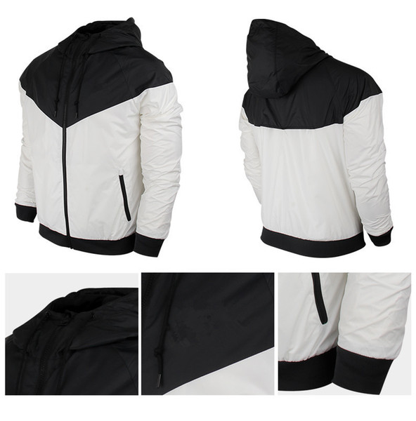 2019 Sports Men's and Women's Jackets Autumn Casual Sportswear Windbreaker Hooded Zipper Coat Asian Size Requires Two Sizes UP Wholesale