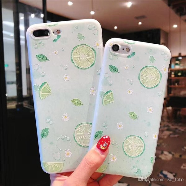 Mytoto Cool Lemon TPU Case For iphone 7 7plus For iphone 6 6s 8 plus X 5 5s Fruit Pattern Soft Silicone Case Cover Capa Coque