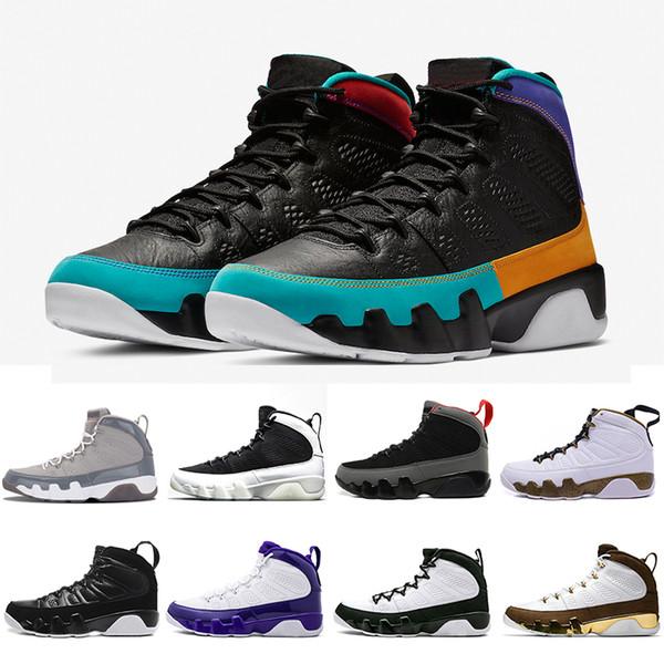 US8-13 UNC 9 IX 9s Dream It Мужские баскетбольные кроссовки Cool Grey LA Черный Белый High Bred Oreo The Spir