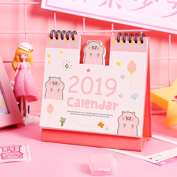2019 Christmas Calendar Home Table Decoration Ornaments Gifts Weekly Planner Monthly Plan To Do List Cartoon Desk Calendars