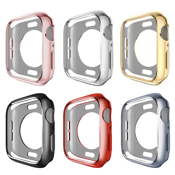 Per Apple Watch Series 1/2/3/4 Custodia morbida resistente ai graffi in TPU Custodia leggera protettiva per paraurti sottile per iWatch 38/42/40 / 44mm