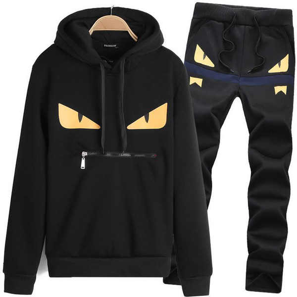 Casual Tracksuit Couple Tracksuit Men Luxury Tracksuit Sport Black Dark Blue Size M-3XL Polyester Hooded Slim Long Sleeve Pullover