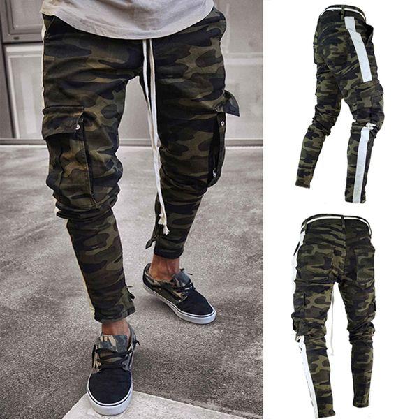 Männer Casual grüne Tarnung Cargo Hosen Männer Jogger Slim Fit Hosen Männer Pantalons Harem Sweatpants Pantalon
