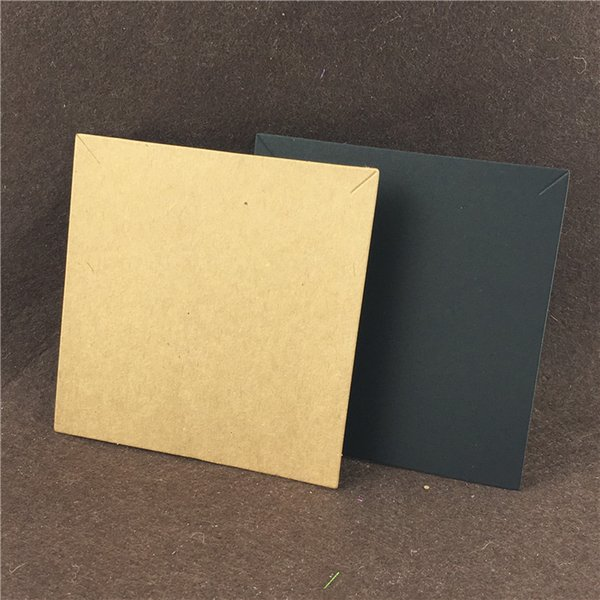 Blank Kraft Paper Necklace Cards Simple Style for Fashion Big Jewelry Accessories Displays Packaging Cards Customized 50PCS/Lot
