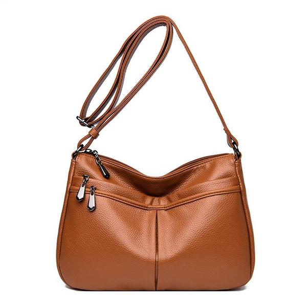 Todo-fósforo de hombro crossbody bolsas de cuero genuino de las señoras de las mujeres bolsos de moda bolsa de mensajero de las mujeres pequeñas bolsas