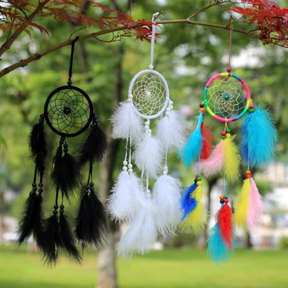 best selling Wholesale Feather dream catcher white black rainbow fur children room decoration car hanging accessories kids gifts