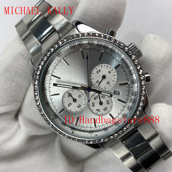 All Subdials Work AAA Mens MICHAEL KALLY Watches Stainless Steel Quartz Wristwatches Stopwatch Luxury Watch Brand relojes for men Best Gift