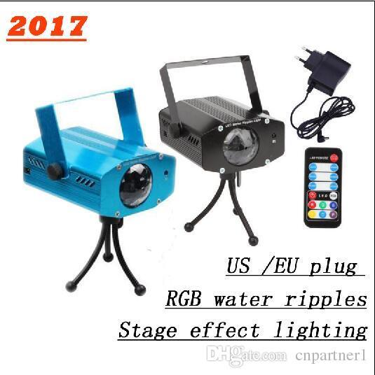 Projector Laser Led water ripples stage lamp light AC100-240V Auto RGB projector Lighting EU/US plug For KTV Xmas Party Wedding DJ Show