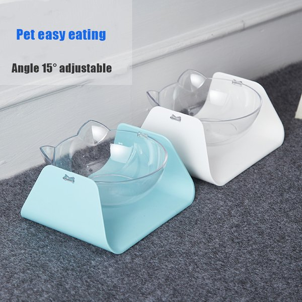 pet bowl for cats drinking bowl for dogs cats water adjustable angle oblique mouth kitty pot protection of cervical