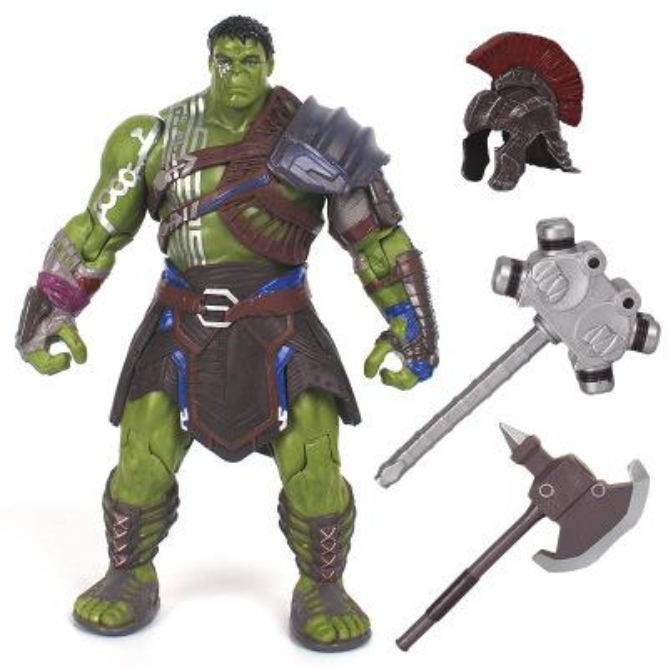 20cm Marvel Thor 3 Ragnarok Hulk Robert Bruce Banner PVC Action Figure War Hammer Battle Axe Gladiator Hulk BJD Model Toy With Box