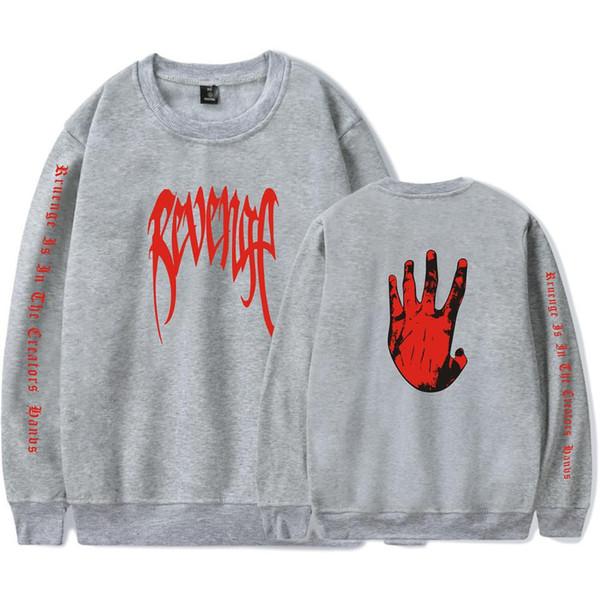 XXXTENTACION R.I.P Rapper Singer Women/Men Hoodies Couples O-Neck Capless Sweatshirts Hip Hop Kpop Hands Letters Coat Plus Size
