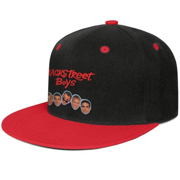 Erkekler ve kadınlar için backstreet boys Kırmızı hip-hop düz ağız kapağı serin tasarımcı golf sporları vintage kişiselleştirilmiş en iyi orijinal düz ağız şapkalar
