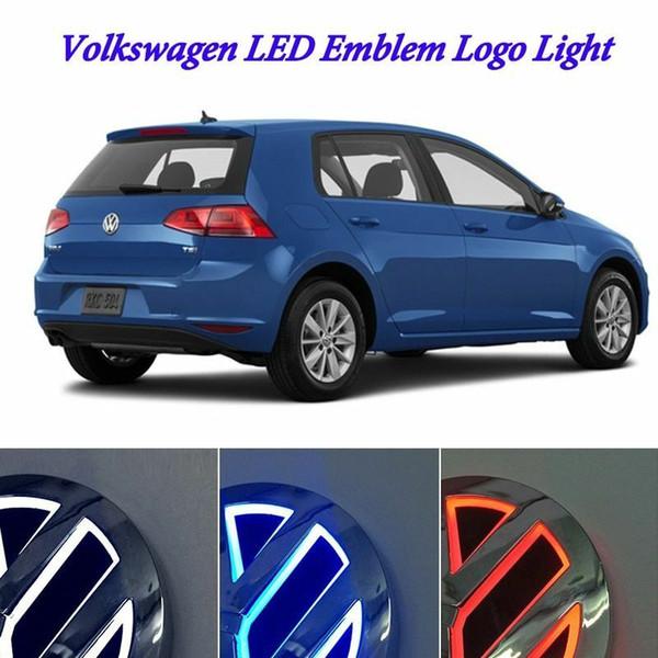 best selling Auto Illuminated 5D LED Car Tail Logo Light Badge Emblem Lamps For Volkswagen VW GOLF Bora CC MAGOTAN Tiguan Scirocco 4D