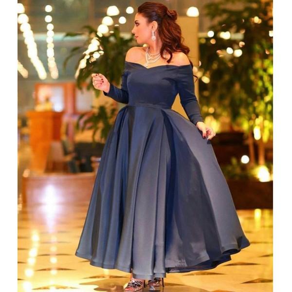 Sexy più il bicchierino di promenade abiti da cocktail arabo musulmano sera convenzionale vestono l'abito lungo