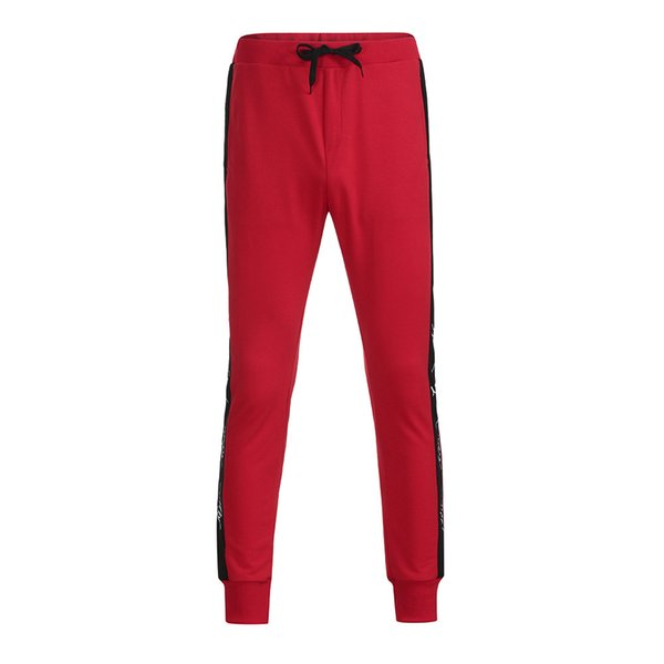 Newly 2018 Mens Autumn Winter Joggers Patchwork Casual Drawstring Sweatpants Trouser Pants Dropshipping c0312