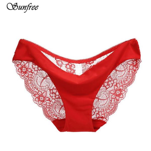 S-2xl!hot Sale! Women's Sexy Lace Panties Seamless Cotton Breathable Panty Hollow Briefs Plus Size Girls Underwear #lk4355 C19041502